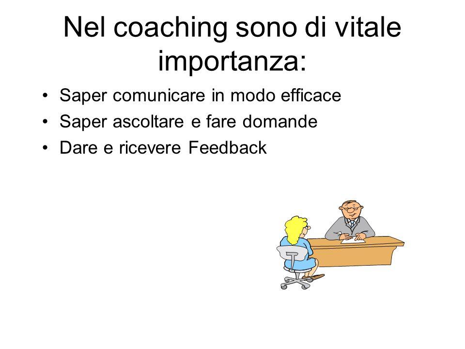 Nel coaching sono di vitale importanza: