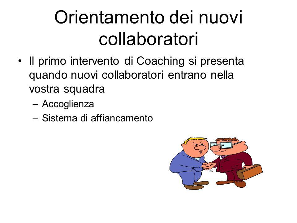 Orientamento dei nuovi collaboratori
