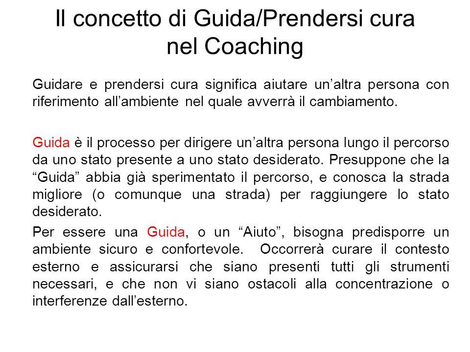 Il concetto di Guida/Prendersi cura nel Coaching