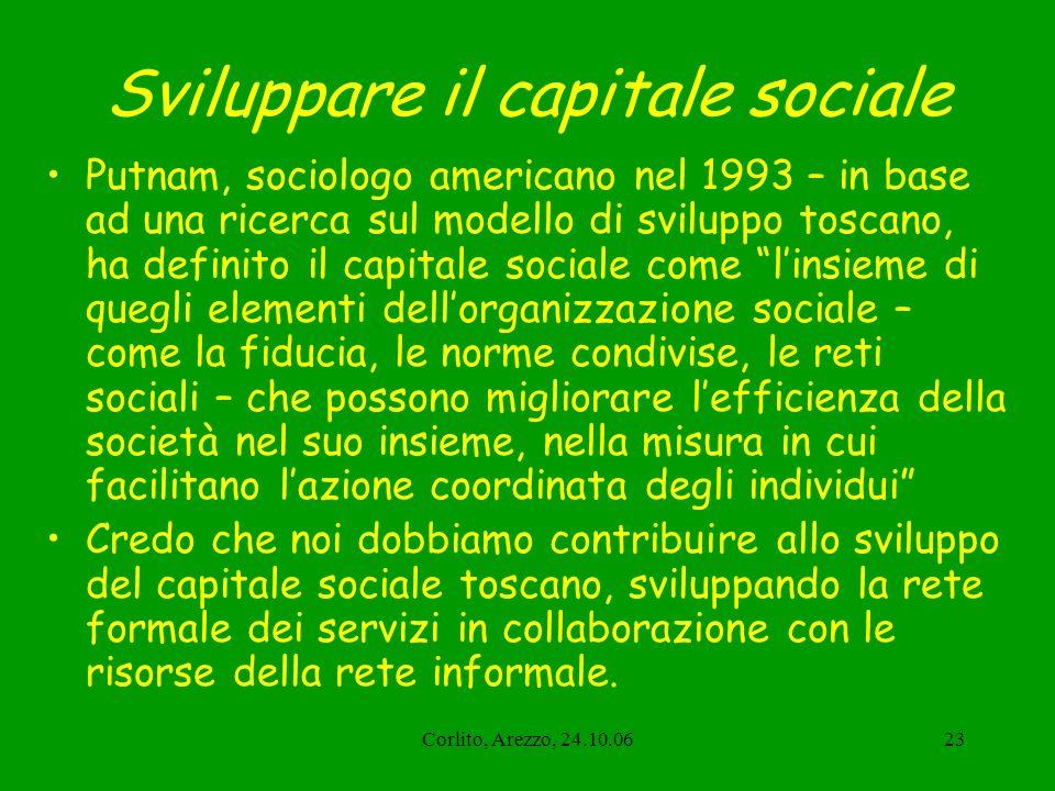 Sviluppare il capitale sociale