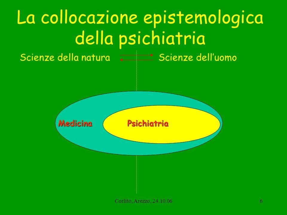 La collocazione epistemologica della psichiatria