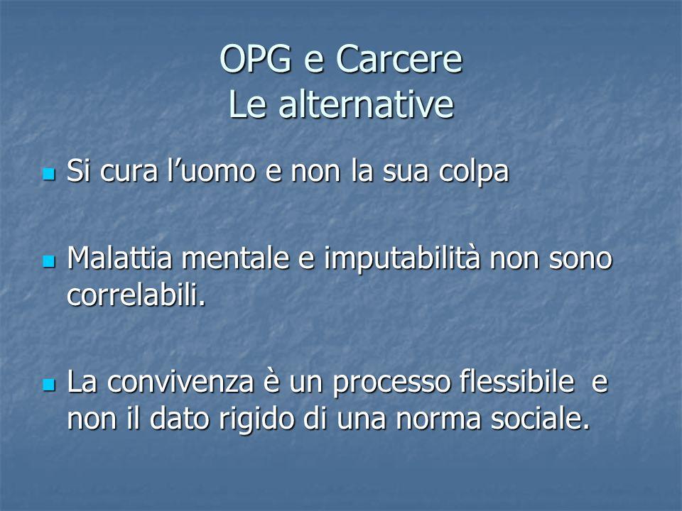 OPG e Carcere Le alternative