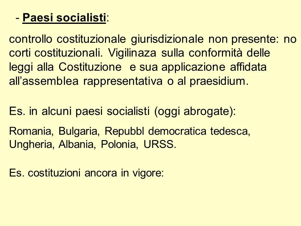 Es. in alcuni paesi socialisti (oggi abrogate):