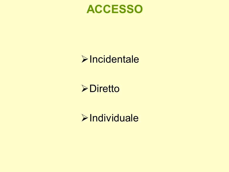 ACCESSO Incidentale Diretto Individuale