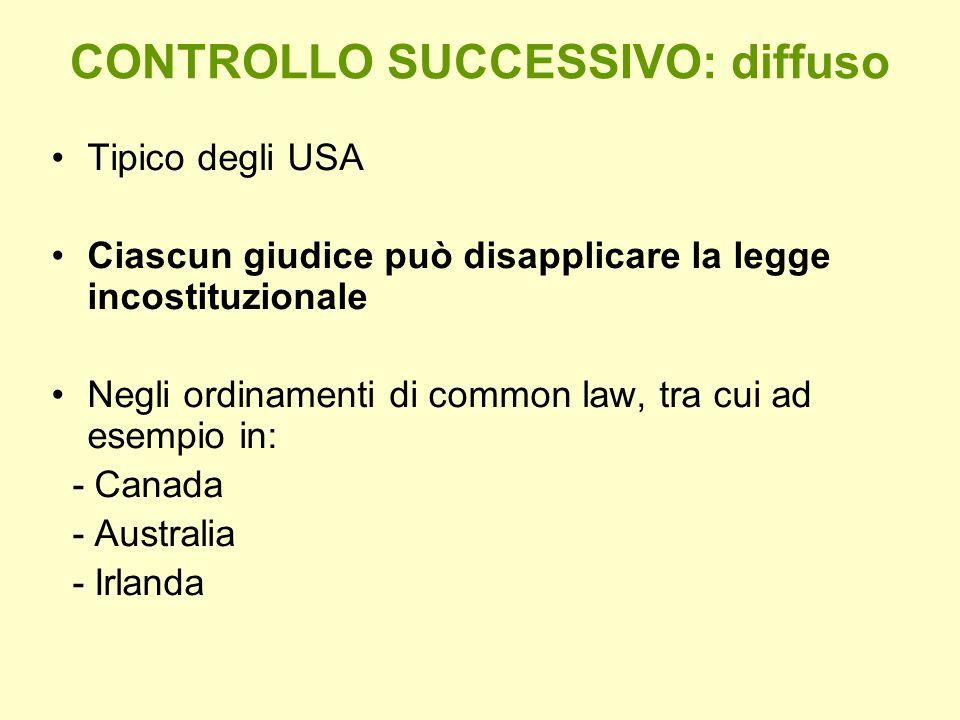 CONTROLLO SUCCESSIVO: diffuso