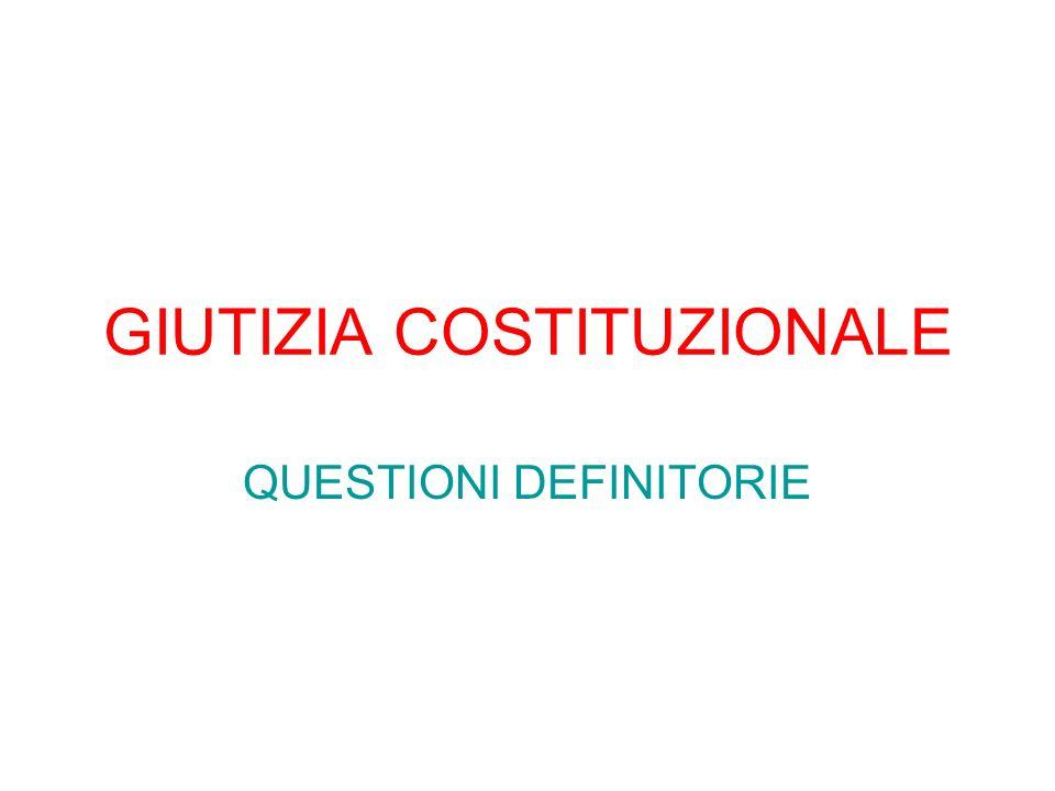 GIUTIZIA COSTITUZIONALE