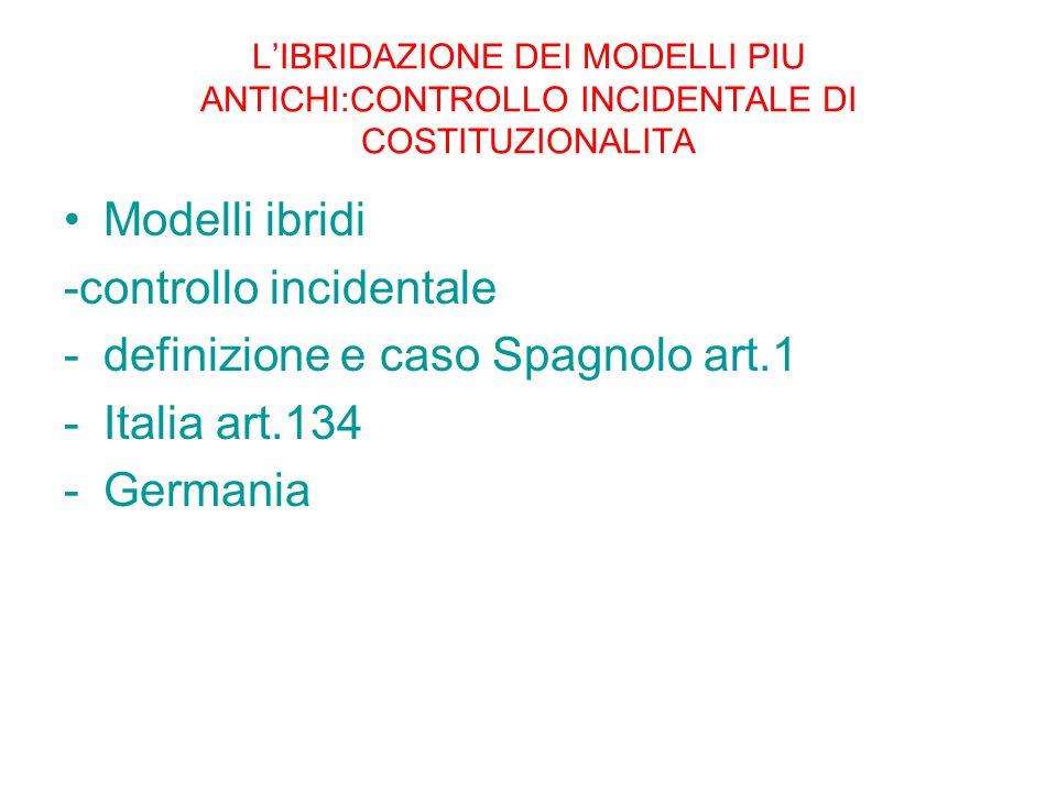 -controllo incidentale definizione e caso Spagnolo art.1