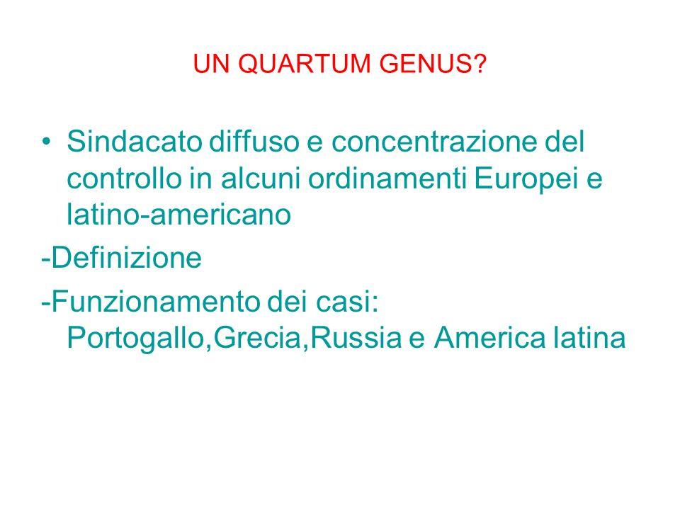 -Funzionamento dei casi: Portogallo,Grecia,Russia e America latina