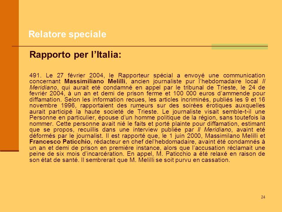 Rapporto per l'Italia: