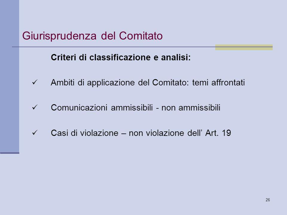 Giurisprudenza del Comitato