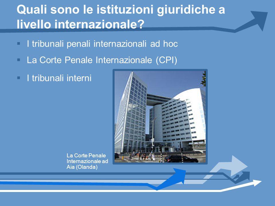 Quali sono le istituzioni giuridiche a livello internazionale