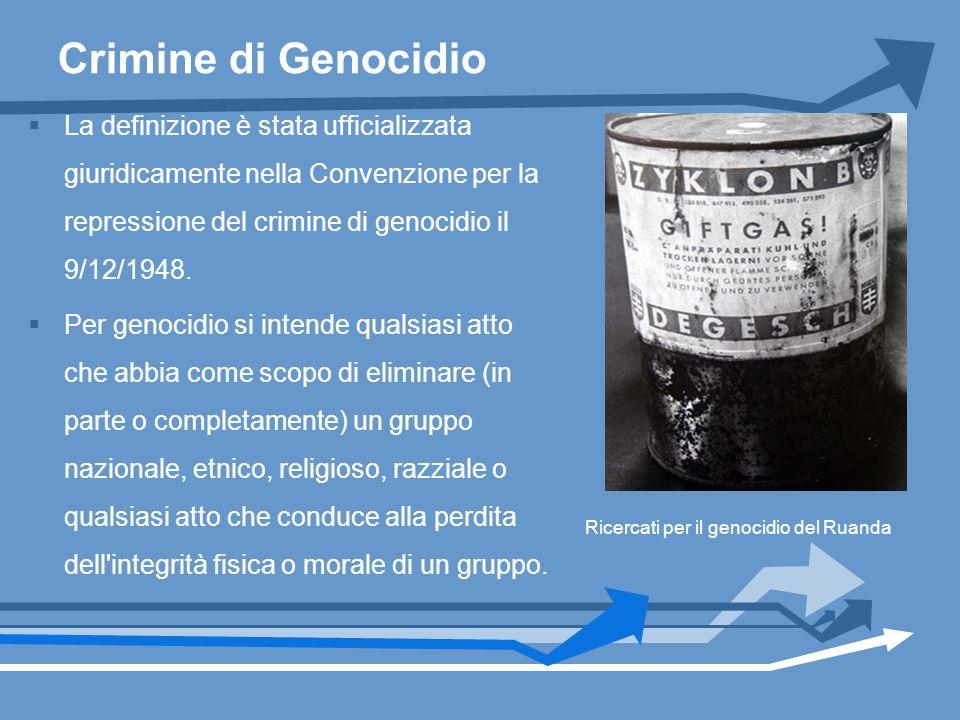 Crimine di Genocidio