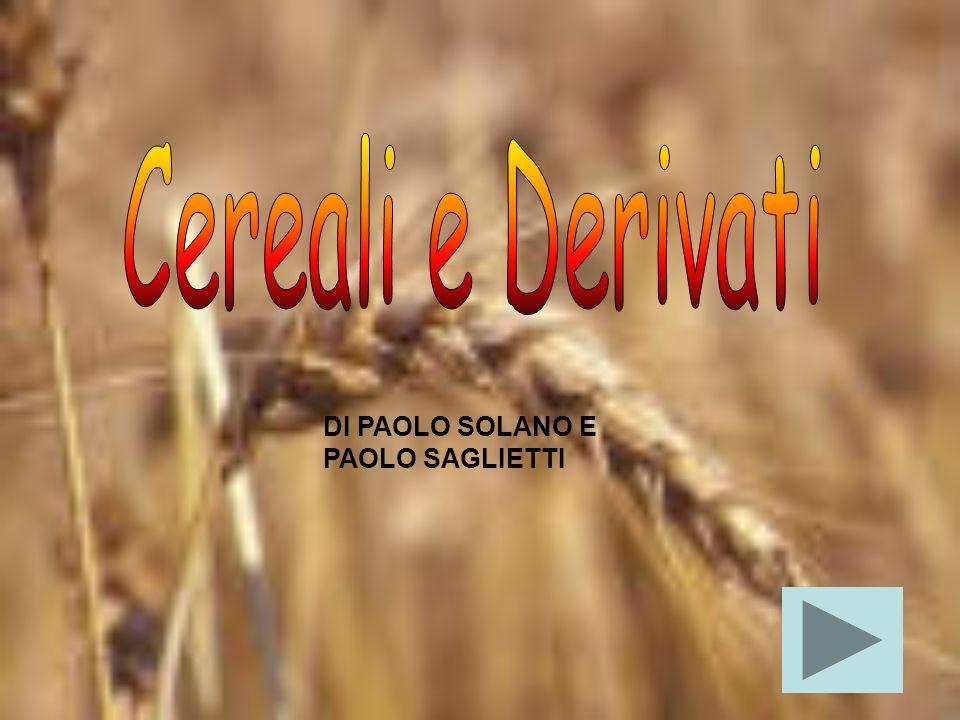 Cereali e Derivati DI PAOLO SOLANO E PAOLO SAGLIETTI