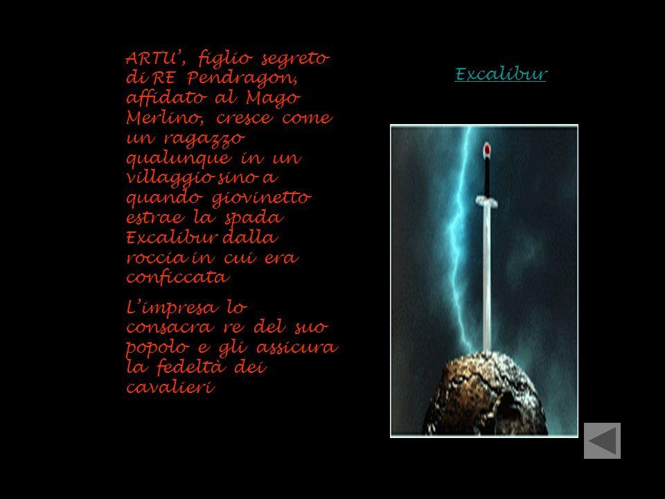 ARTU', figlio segreto di RE Pendragon, affidato al Mago Merlino, cresce come un ragazzo qualunque in un villaggio sino a quando giovinetto estrae la spada Excalibur dalla roccia in cui era conficcata