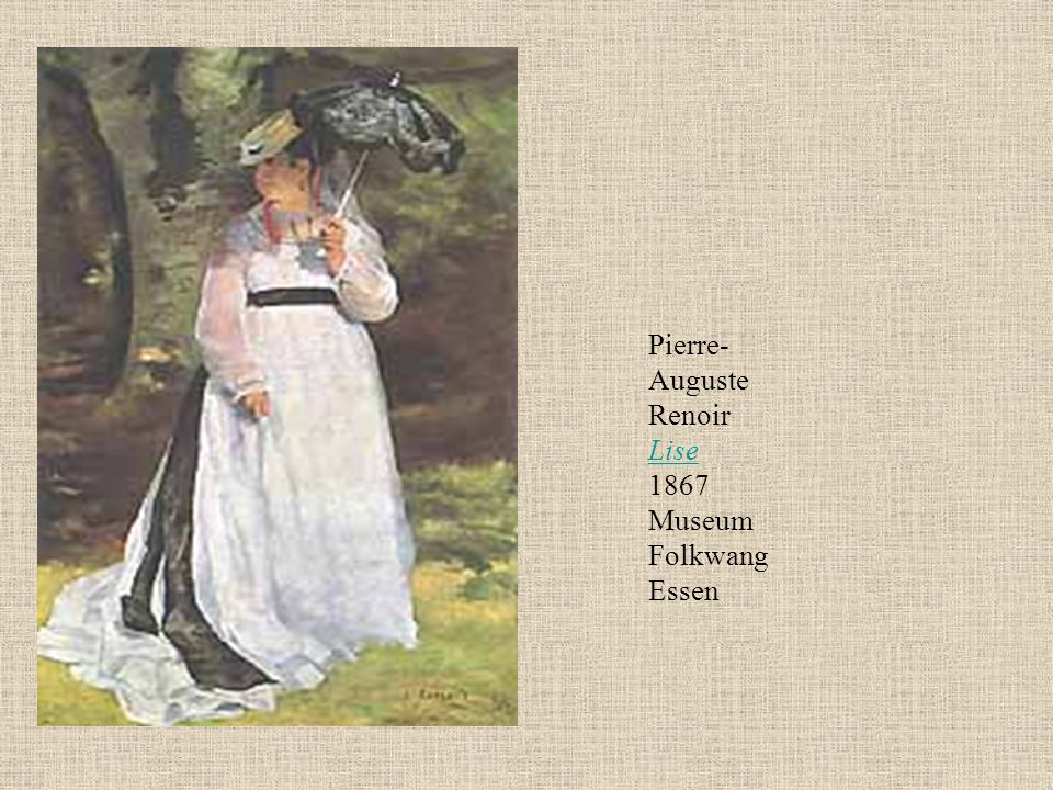 Pierre-Auguste Renoir Lise 1867 Museum Folkwang Essen