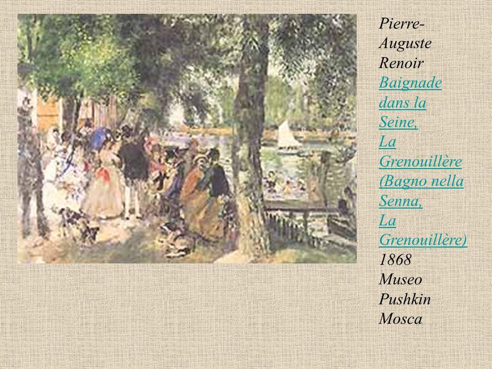Pierre-Auguste Renoir Baignade dans la Seine, La Grenouillère (Bagno nella Senna, La Grenouillère) 1868 Museo Pushkin Mosca