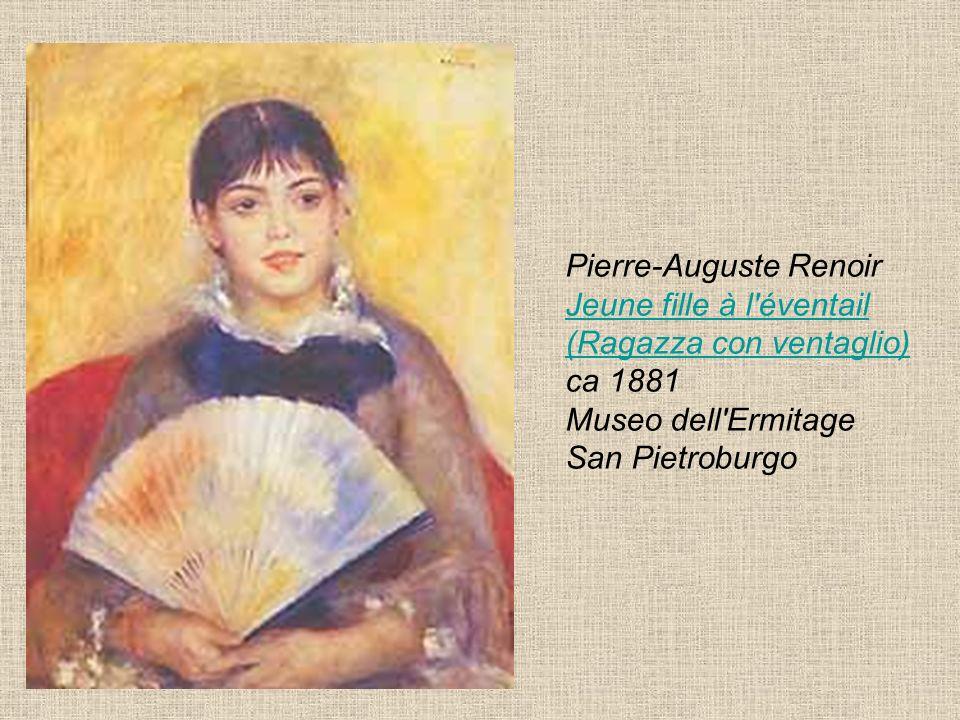 Pierre-Auguste Renoir Jeune fille à l éventail (Ragazza con ventaglio) ca 1881 Museo dell Ermitage San Pietroburgo