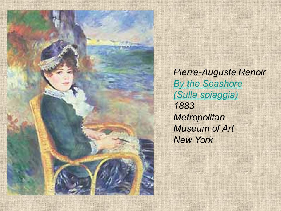 Pierre-Auguste Renoir By the Seashore (Sulla spiaggia) 1883 Metropolitan Museum of Art New York