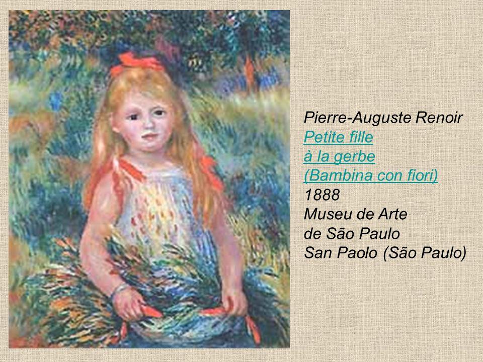 Pierre-Auguste Renoir Petite fille à la gerbe (Bambina con fiori) 1888 Museu de Arte de São Paulo San Paolo (São Paulo)