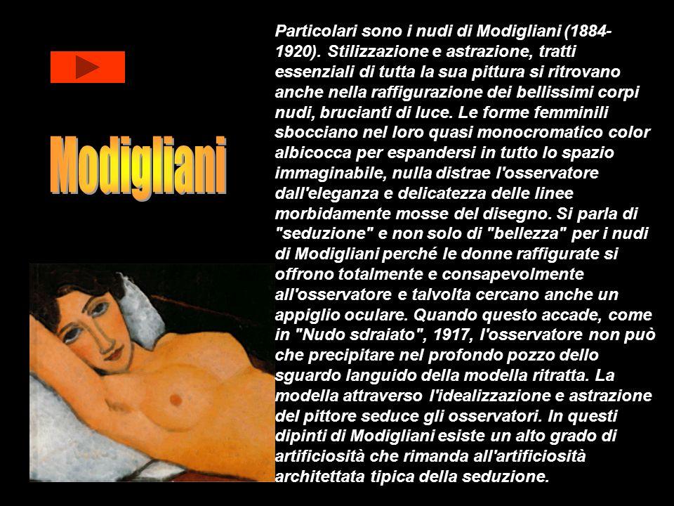 Particolari sono i nudi di Modigliani (1884-1920)