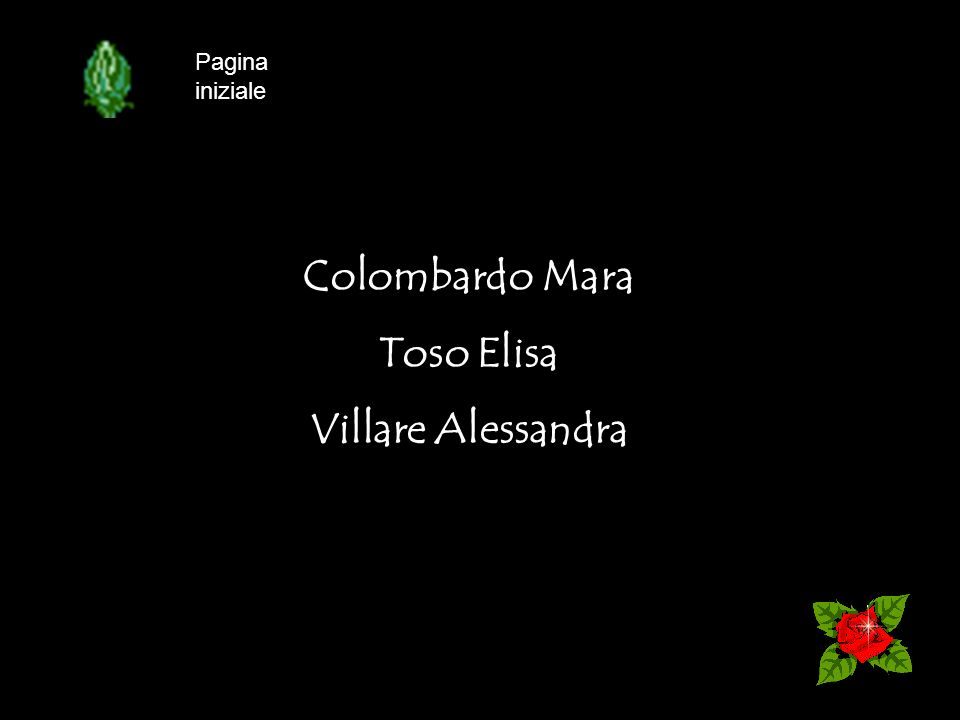 Colombardo Mara Toso Elisa Villare Alessandra