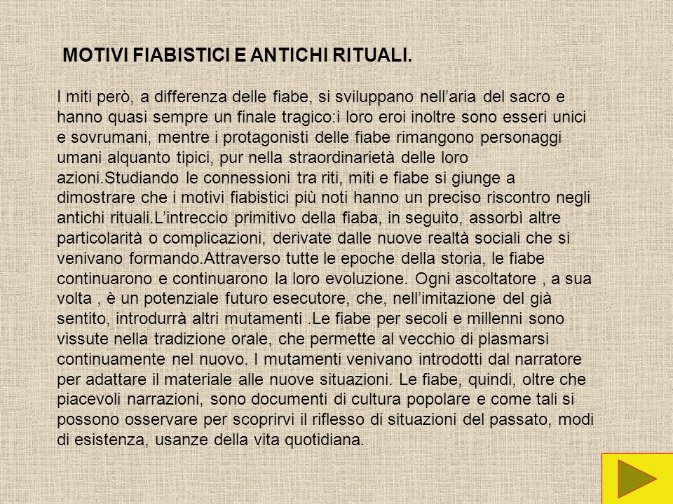 MOTIVI FIABISTICI E ANTICHI RITUALI.