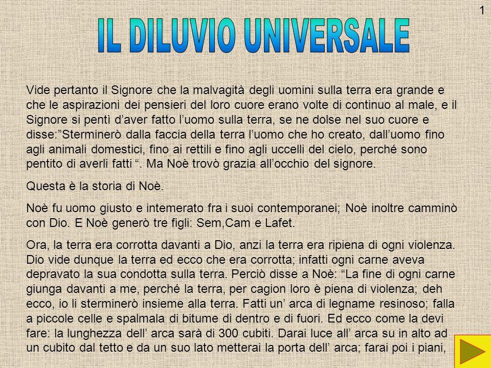 1 IL DILUVIO UNIVERSALE.