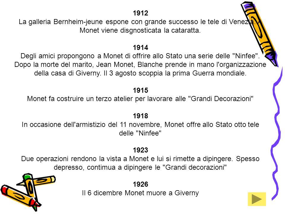 Il 6 dicembre Monet muore a Giverny