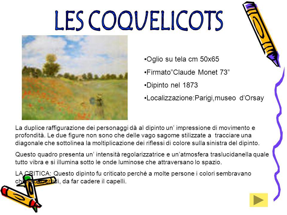 LES COQUELICOTS Oglio su tela cm 50x65 Firmato Claude Monet 73