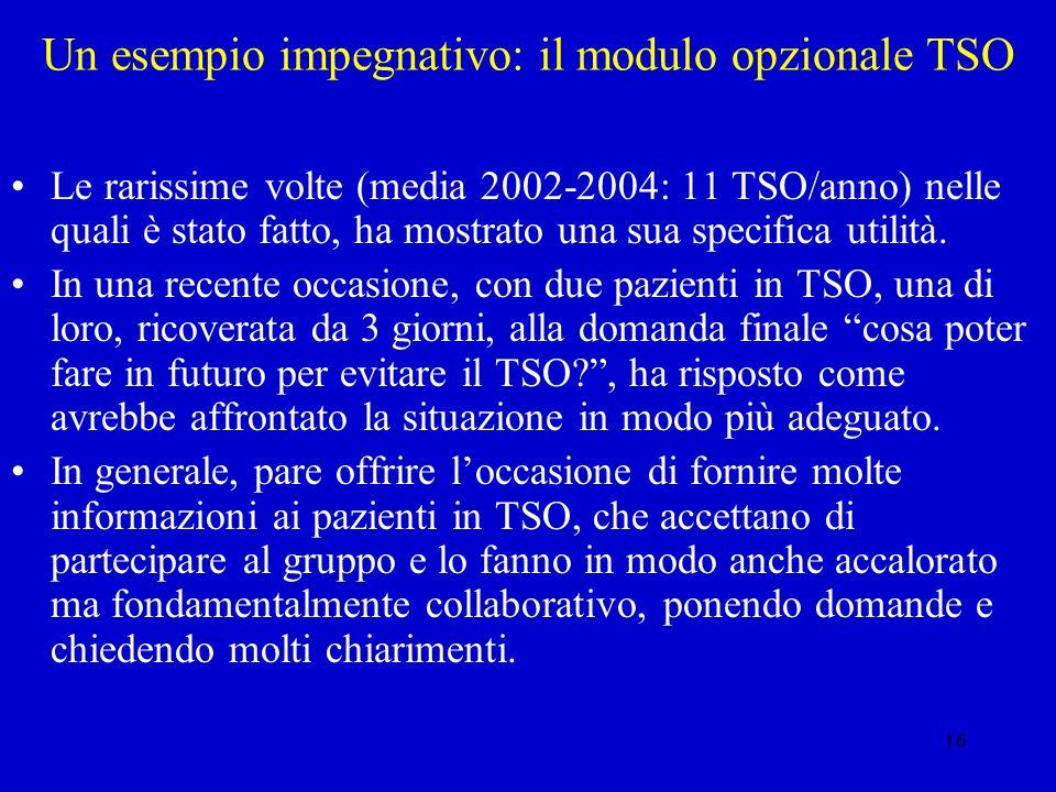 Un esempio impegnativo: il modulo opzionale TSO