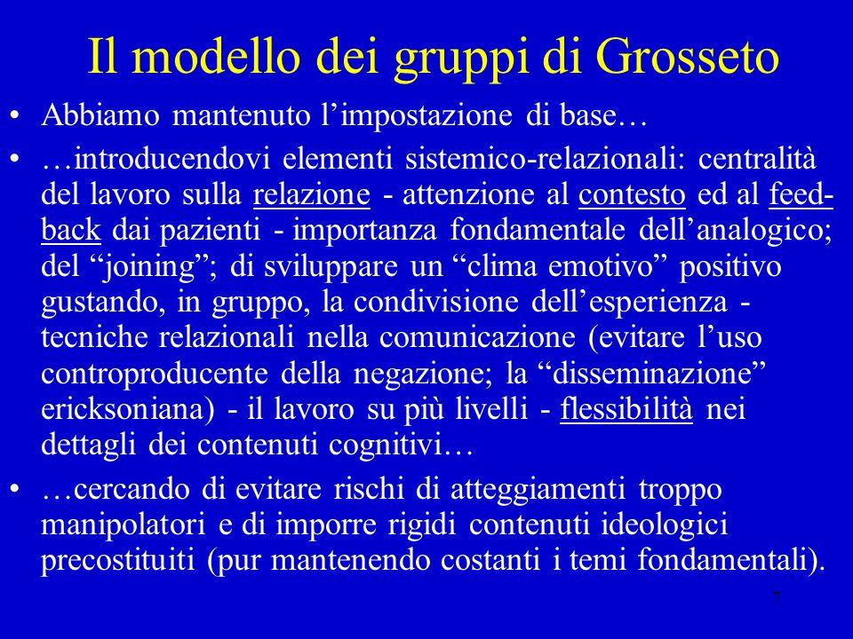 Il modello dei gruppi di Grosseto