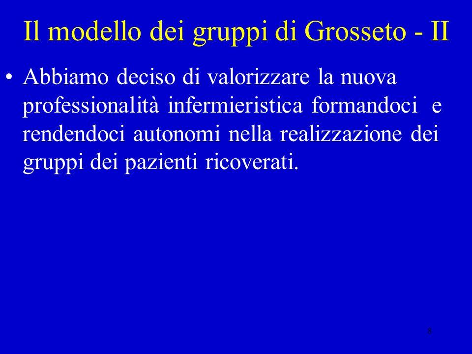 Il modello dei gruppi di Grosseto - II