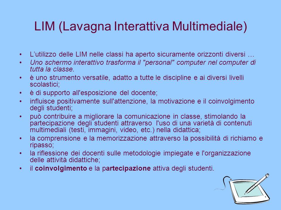 LIM (Lavagna Interattiva Multimediale)