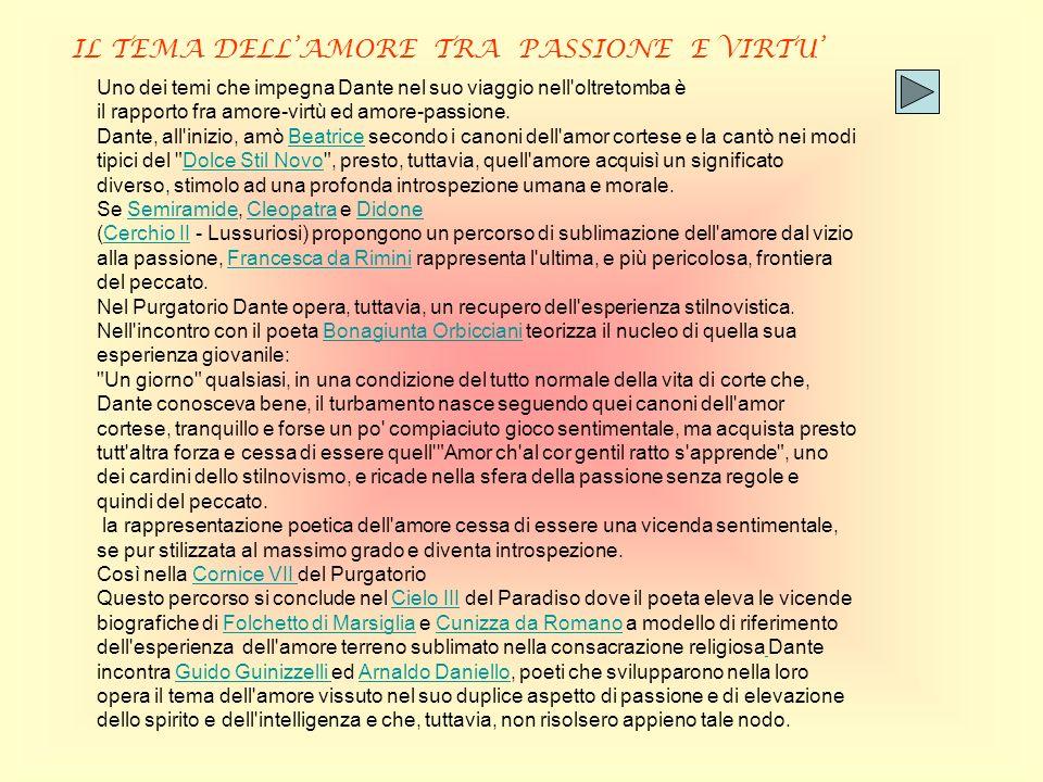 IL TEMA DELL'AMORE TRA PASSIONE E VIRTU'