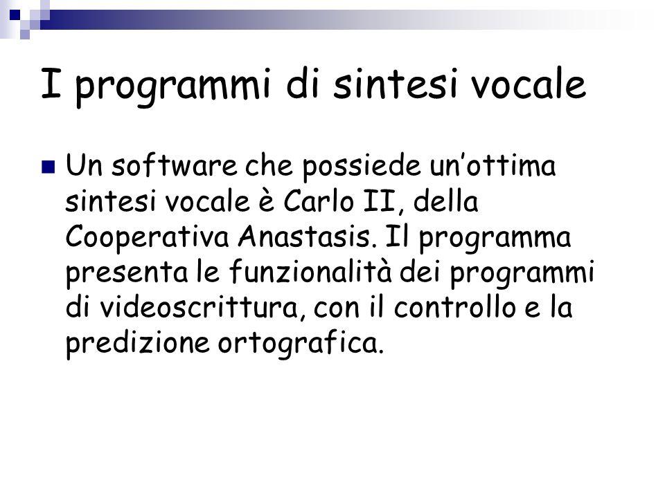 I programmi di sintesi vocale