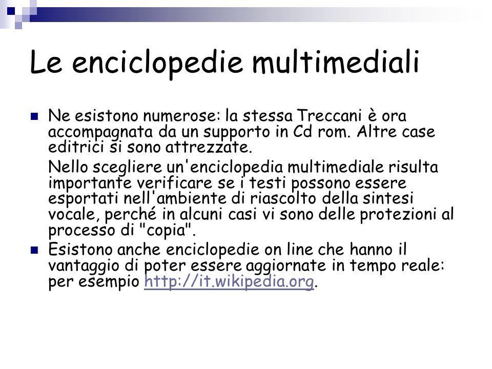 Le enciclopedie multimediali