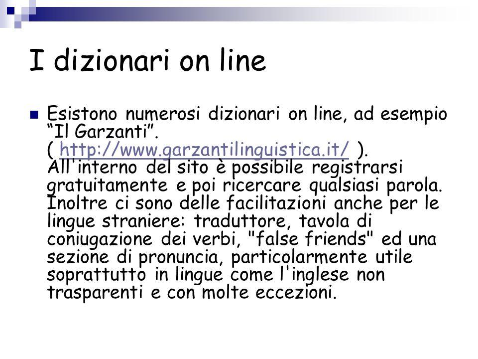 I dizionari on line