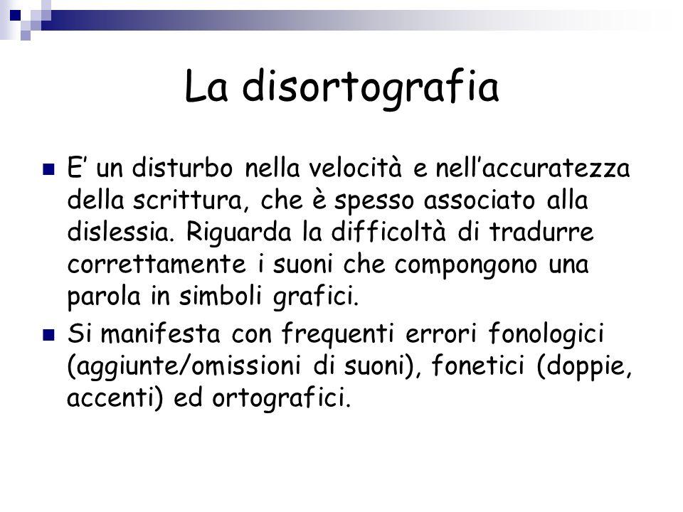 La disortografia