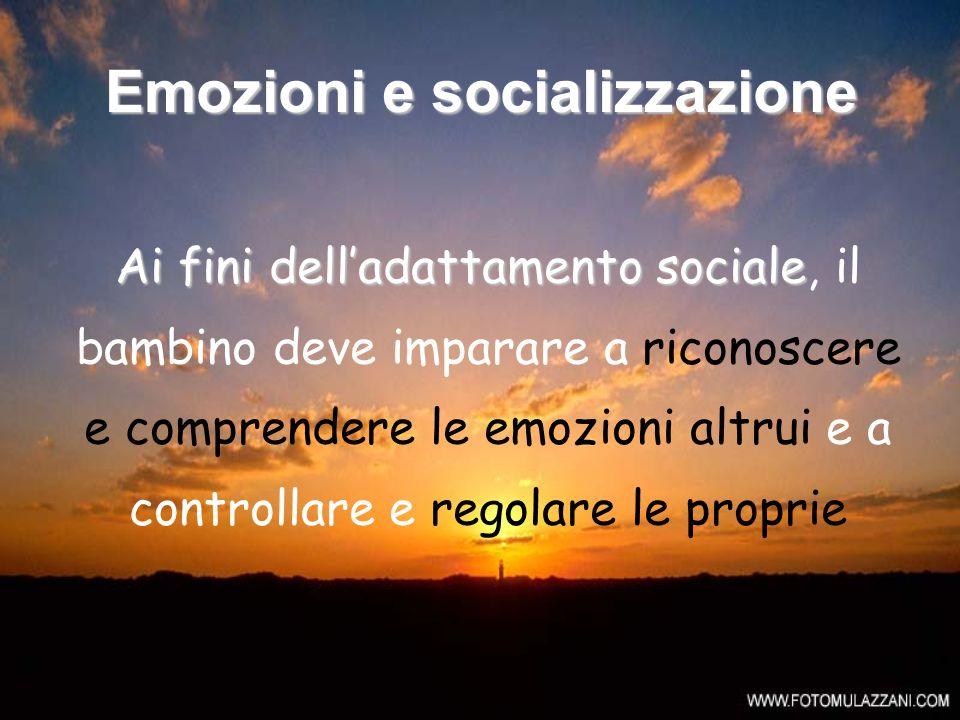 Emozioni e socializzazione