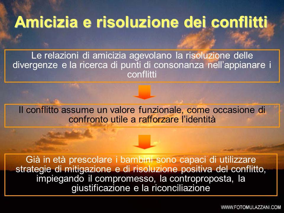 Amicizia e risoluzione dei conflitti