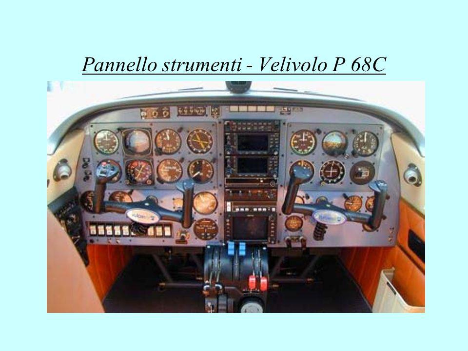 Pannello strumenti - Velivolo P 68C