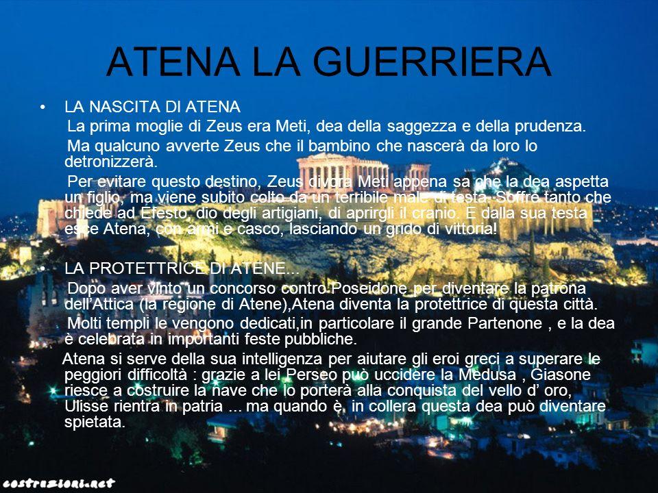 ATENA LA GUERRIERA LA NASCITA DI ATENA