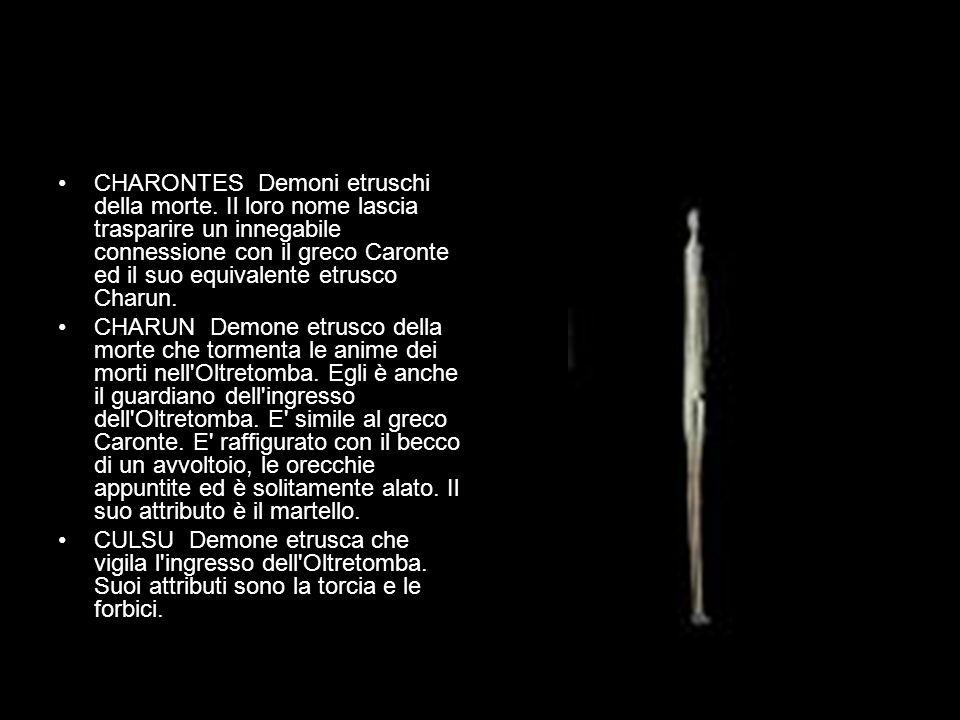 CHARONTES Demoni etruschi della morte