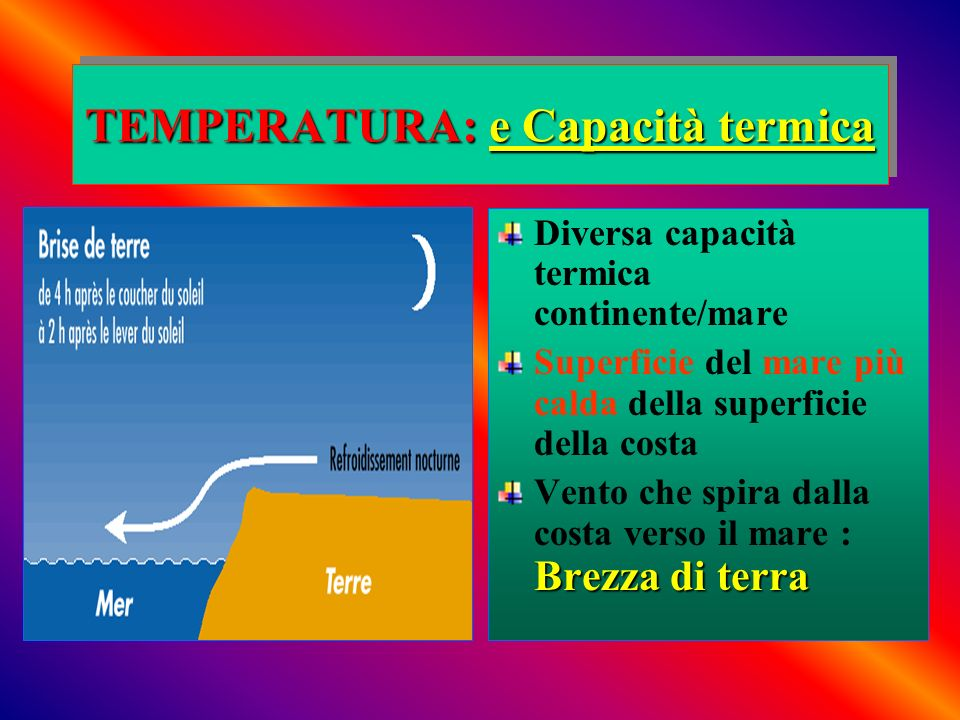 TEMPERATURA: e Capacità termica