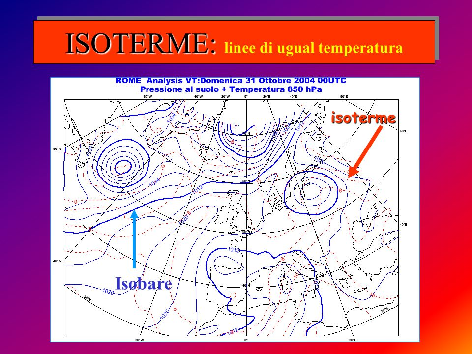 ISOTERME: linee di ugual temperatura