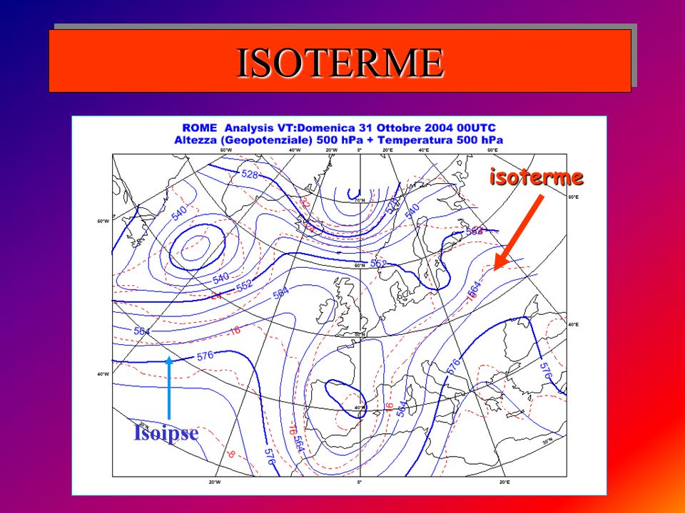 ISOTERME isoterme Isoipse