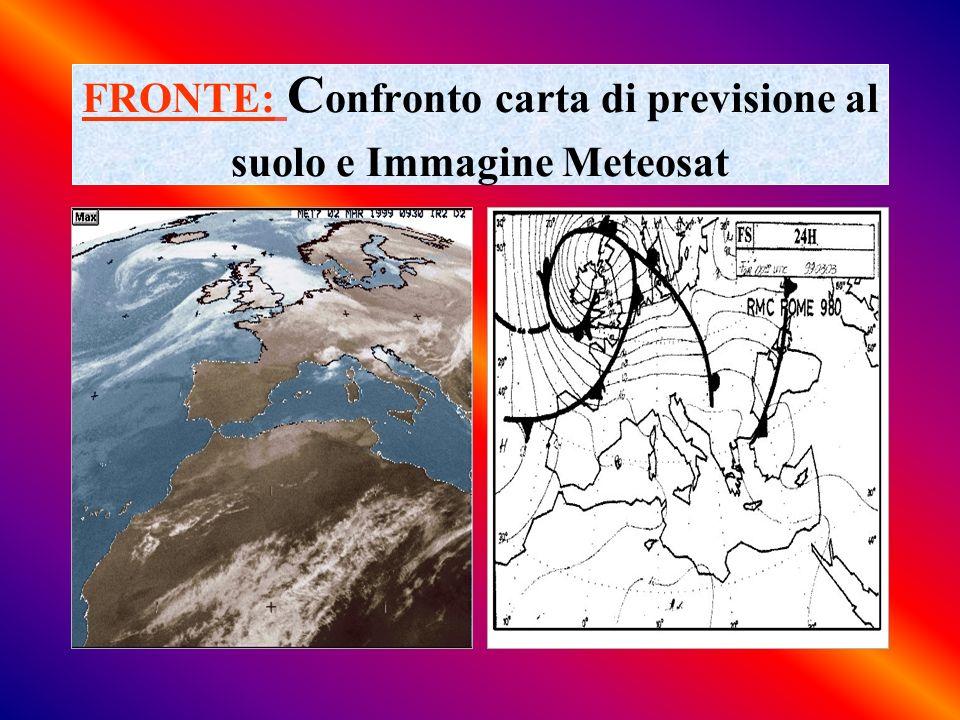 FRONTE: Confronto carta di previsione al suolo e Immagine Meteosat