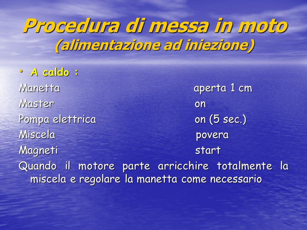 Procedura di messa in moto (alimentazione ad iniezione)