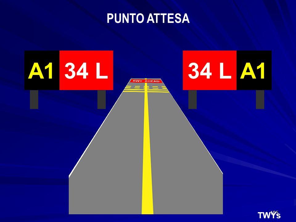 PUNTO ATTESA 34 L A1 34 L A1 TWYs