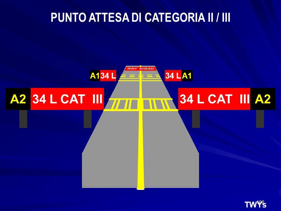 PUNTO ATTESA DI CATEGORIA II / III